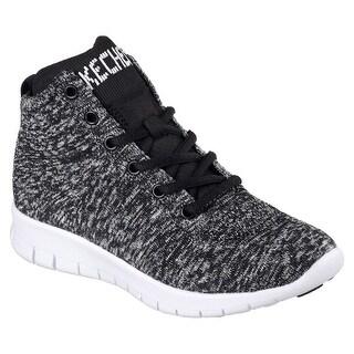 Skechers 22998 BKGY Women's BRIGHT IDEA-ELEVATED Sneaker