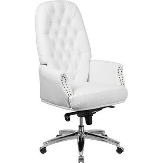 leather office u0026 conference room chairs shop the best deals for sep - Tufted Desk Chair