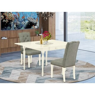Link to 3-Pc Dining Set Included a Drop Leaf Table and 2 Parsons Chairs (Color Option Available) Similar Items in Dining Room & Bar Furniture