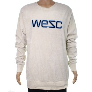 WeSC Sand Beige Mens Size XL Crewneck Plush Pullover Sweater
