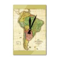 South America - (1826) - Panoramic Map (Acrylic Wall Clock) - acrylic wall clock