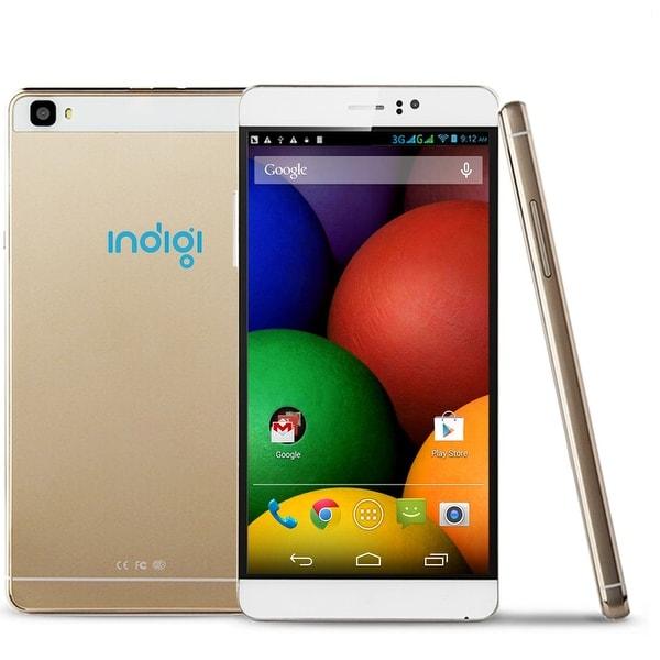 "Indigi® 3G Factory Unlocked 6.0"" DualSim SmartPhone Android 5.1 Lollipop w/ WiFi + Bluetooth Sync + DualCameras - GOLD"