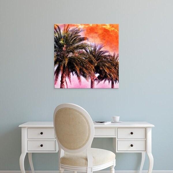 Easy Art Prints Skip Nall's 'Hifi Palms I' Premium Canvas Art