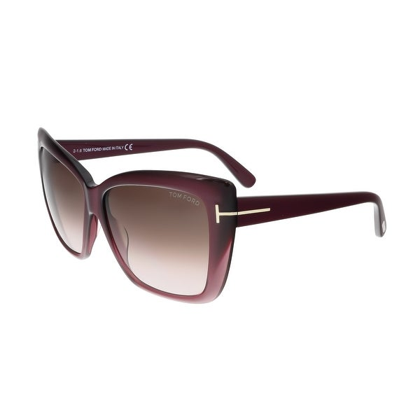 Tom Ford FT0390 80B IRINA Purple Square Sunglasses