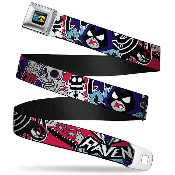 Teen Titans Go! Full Color Black Blue Yellow Teen Titans Go! Raven Demon Seatbelt Belt