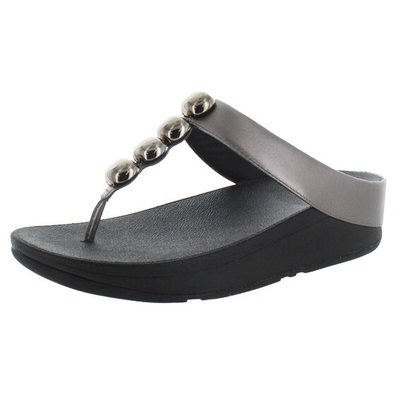 FitFlop Rola Women's Leather Thong Sandals Comfort Shoes