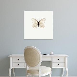 Easy Art Prints PhotoINC Studio's 'White Butterfly' Premium Canvas Art