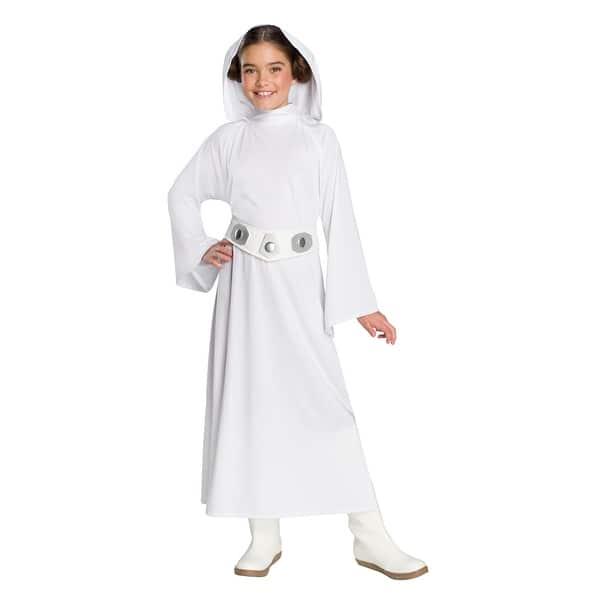 Shop Girls Star Wars Deluxe Princess Leia Costume Overstock