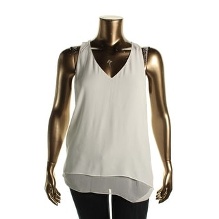 Karen Kane Womens Tank Top Georgette Double Layer