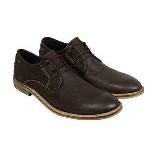Kenneth Cole Prove N Mens Brown Leather Casual Dress Lace Up Oxfords Shoes