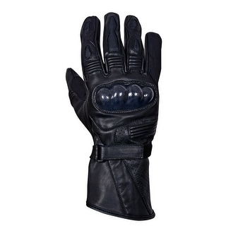 Motorcycle Carbon Fiber Knuckle Premium Natural Cowhide Biker Glove MG9-Black