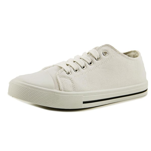 Qupid Narnia Women Round Toe Canvas White Sneakers