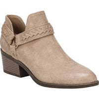 Fergalicious Women's Integrity Ankle Boot Nude Oiled Fabric