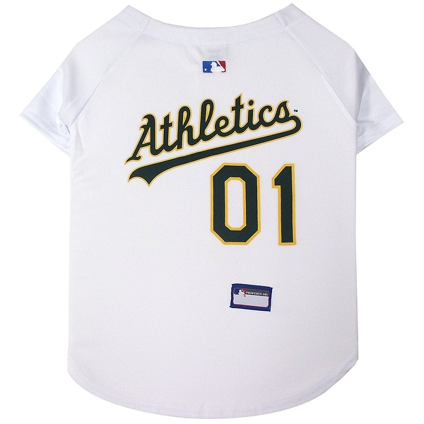 newest 205a9 3f3af Shop MLB Oakland A's Pet Jersey - On Sale - Free Shipping On ...