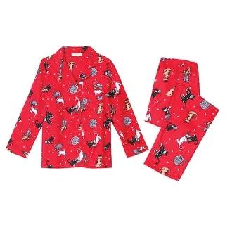 Women's Cats Flannel Pajama Set