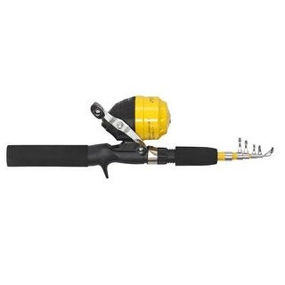 Eagle Claw Pack-It Spin Cast Combo Telescopic (1 Pc), One Size, Yellow, Right