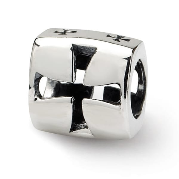 Sterling Silver Reflections Maltese Cross Bead (4mm Diameter Hole)