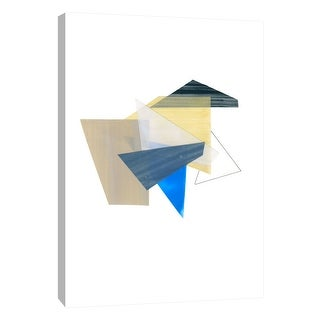 "PTM Images 9-108461  PTM Canvas Collection 10"" x 8"" - ""Shape Study 1"" Giclee Abstract Art Print on Canvas"