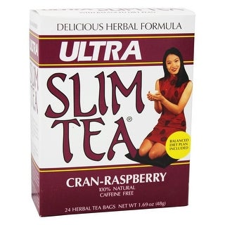 Hobe Laboratories Ultra Slim Tea Cran-Rasp 24 Bag