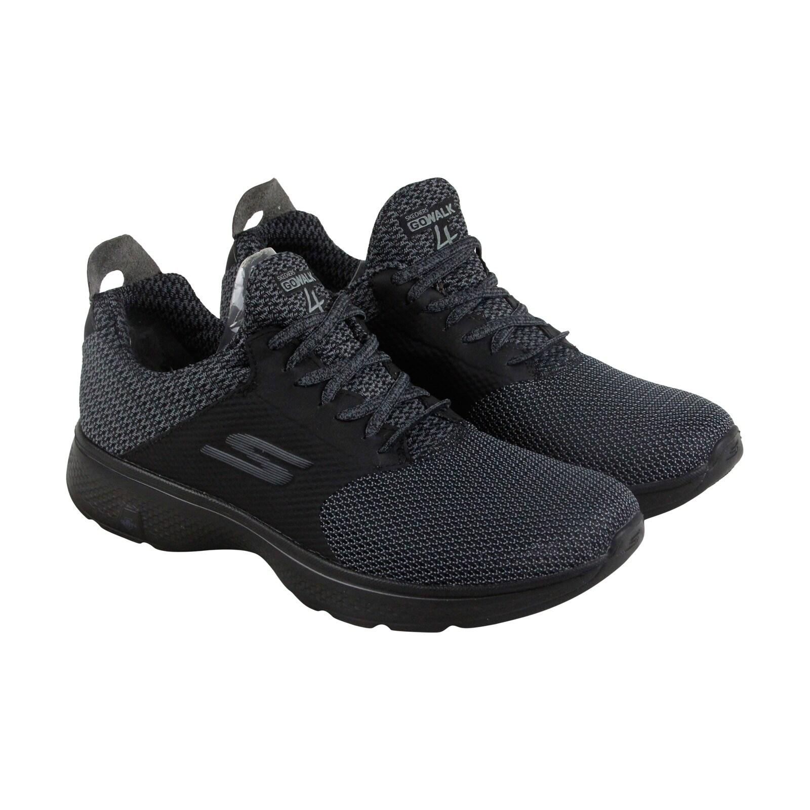 Skechers Gowalk 4 Instinct Mens Black Mesh Athletic Lace Up Training Shoes