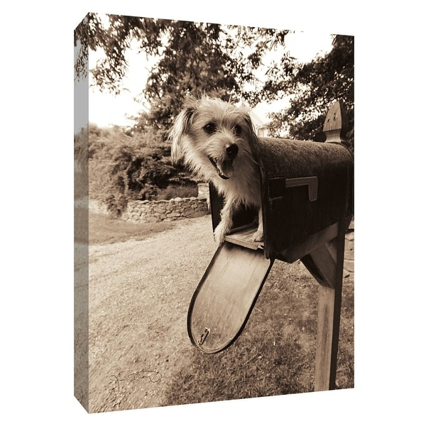 """PTM Images 9-154881 PTM Canvas Collection 10"""" x 8"""" - """"Youve Got Mail"""" Giclee Dogs Art Print on Canvas"""