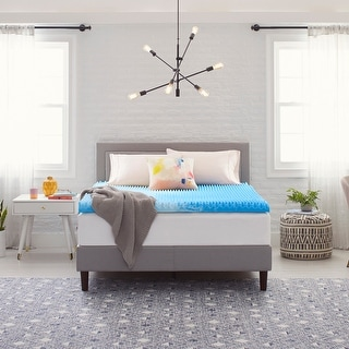 """Link to Comfort Revolution 3"""" Reversible Convoluted Memory Foam Mattress Topper Similar Items in Mattress Pads & Toppers"""