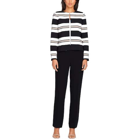 Tahari Womens Petites Pant Suit 2PC Striped - 2P