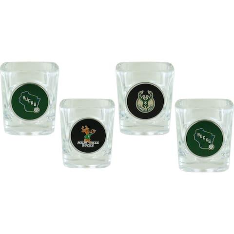 Milwaukee Bucks Collector's Shot Glass Set, 4-Pack