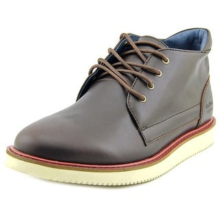 Globe Daley Boot Men Round Toe Leather Brown Boot