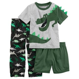 Carter's Baby Boys' 3-Piece Dinosaur Poly PJs