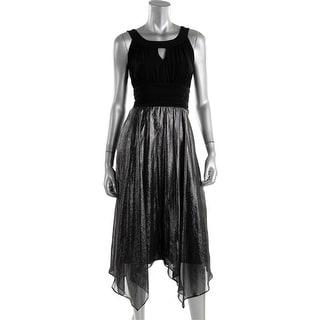 Sangria Womens Metallic Sleeveless Party Dress - 10