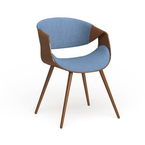 Carson Carrington Skibby Wood and Fabric Mid-century Dining Chair