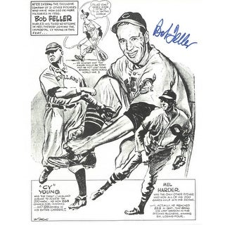 Bob Feller signed Cleveland Indians 8x10 Portrait Photo (on paper)