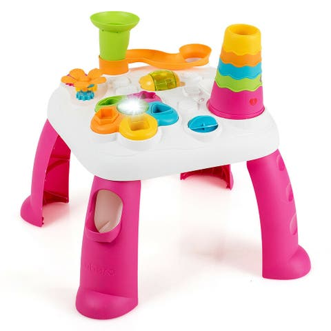 2 in 1 Early Education Toy Toddler Learning Table-Pink