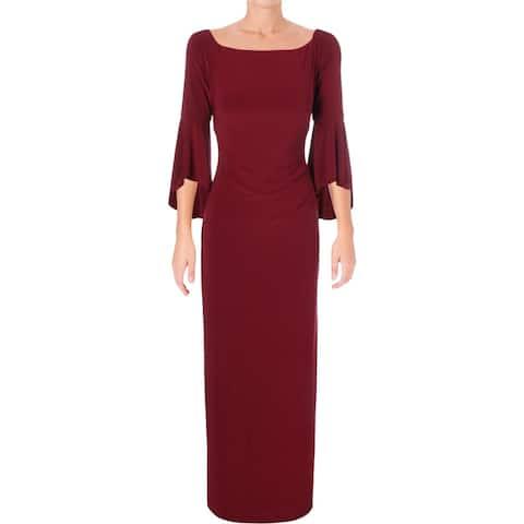 ff89f978575 Lauren Ralph Lauren Womens Lenar Evening Dress Off-The Shoulder Bell Sleeve