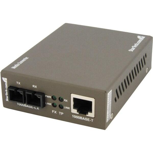 Startech - Mcmgbsc15 Gigabit Fiber Ethernet Medianconverter Rj45 To Sc