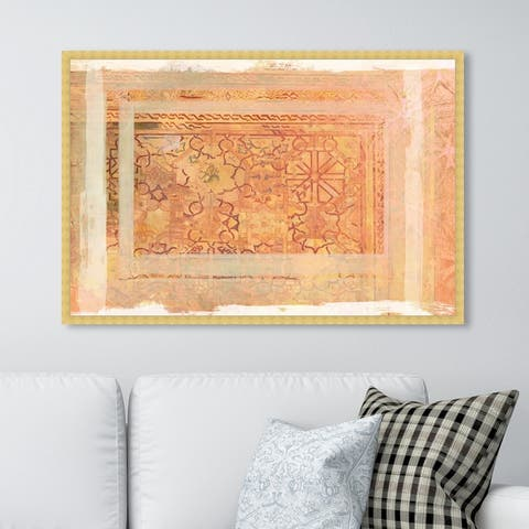 Oliver Gal 'Grazia' Abstract Wall Art Framed Print Patterns - Orange, White