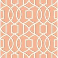 Brewster 2625-21816 Quantum Coral Trellis Wallpaper - coral trellis - N/A