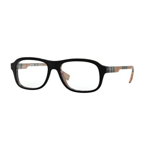 Burberry BE2299 3806 54 Black On Vintage Check Men's Square Eyeglasses