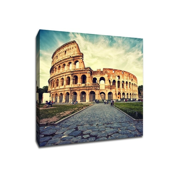 Colosseum - Rome - Global Landmarks - 20x20 Gallery Wrapped Canvas Wall Art
