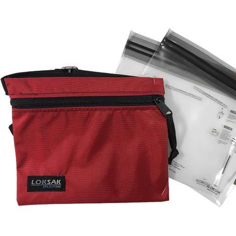 "Loksak Dipper Nylon Waterproof SplashSak - 7"" x 6"" - Red - 7"" x 6"""