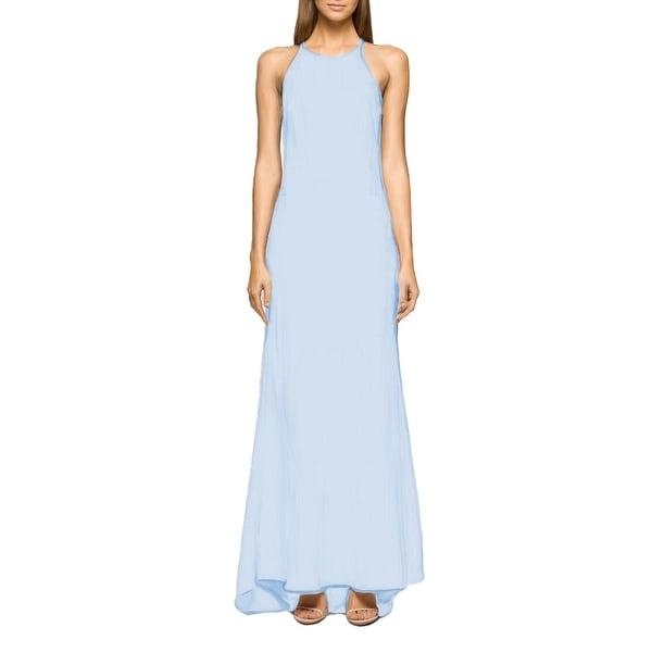 76ebd30857209 Shop Calvin Klein High Neck Crepe Halter Gown, 2 - Free Shipping ...