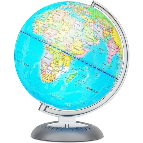 Little Experimenter World Globe for Kids - LED Light Illuminates for Night View - Colorful, Easy-Read Labels of Continents