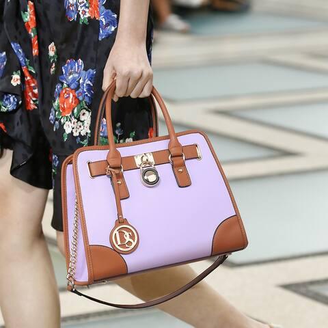 Dasein Women Handbags Top Handle Satchel Purse Shoulder Bag Briefcase Bag Set 2pcs