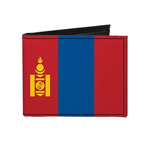 Buckle-Down Canvas Bi-fold Wallet - Mongolia Flag Accessory
