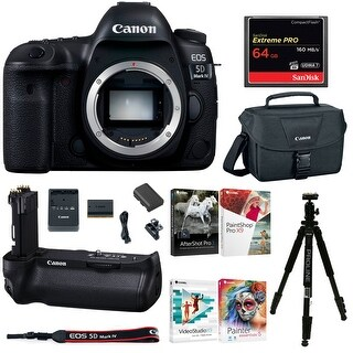 Canon EOS 5D Mark IV DSLR Camera (Body Only) Holiday Bundle