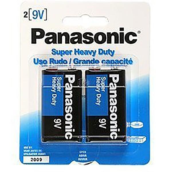 12-Pack Panasonic 9V Super Heavy Duty Batteries - 12 x 9V Batteries