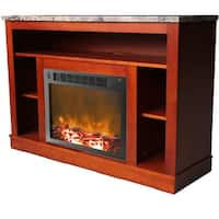 Cambridge Seville CAM5021-1CHR Fireplace Mantel with Electronic Fireplace Insert, Cherry