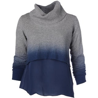 Elie Tahari Womens Wool Ombre Pullover Sweater