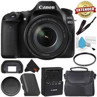 Canon EOS 80D DSLR Camera Bundle (Body Only) (Intl Model)